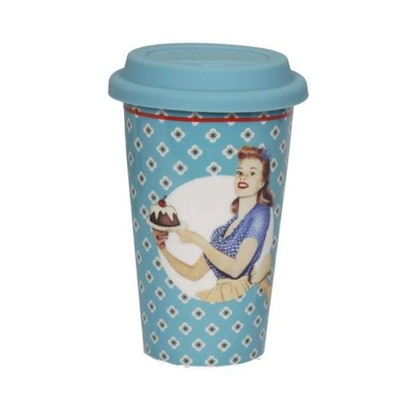 Cană din ceramică voiaj Antic Line Retro Bleu, albastru