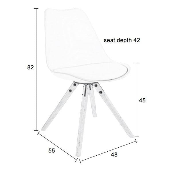 Bílá židle s bukovým podnožím Tryck