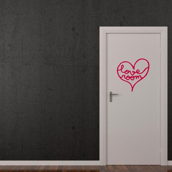 Samolepka Love Room, 28x30 cm