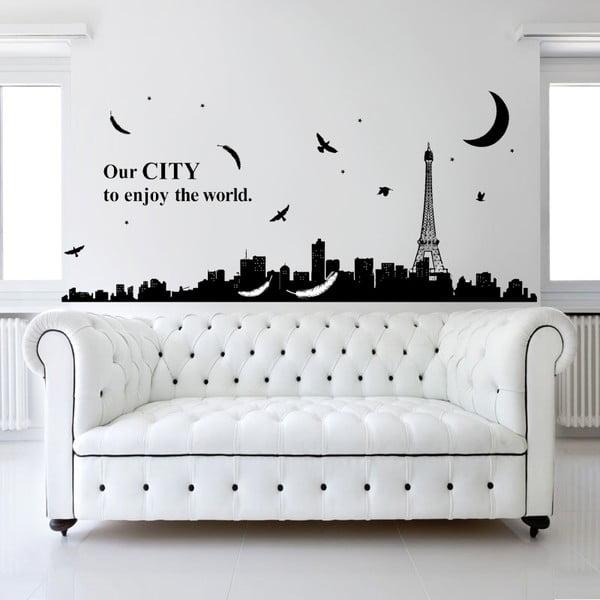 Samolepka na stěnu Noční Paříž, 60x90 cm