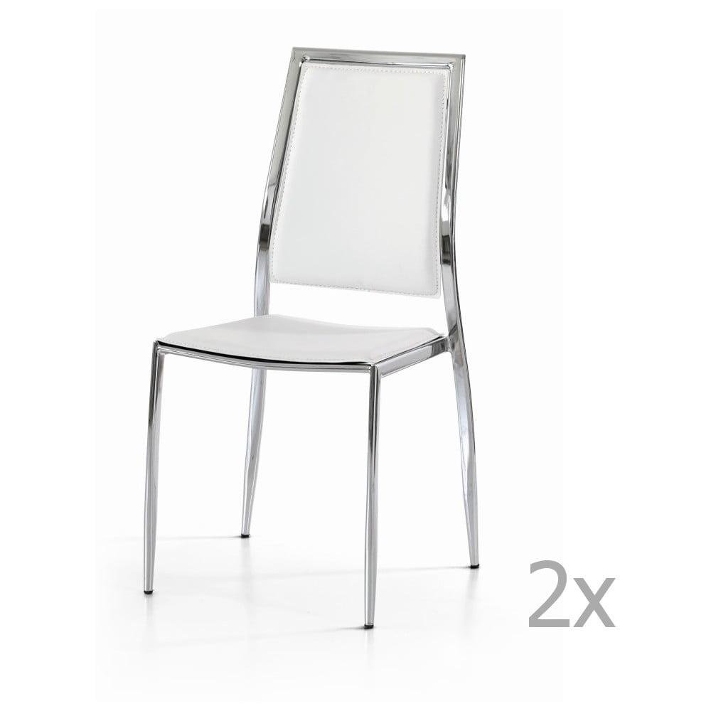 Sada 2 bílých jídelních židlí Castagnetti Frame