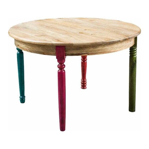 Jídelní stůl z mangového dřeva Støraa Flint,Ø137cm