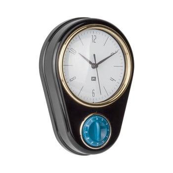 Ceas și cronometru pentru bucătărie PT LIVING, negru