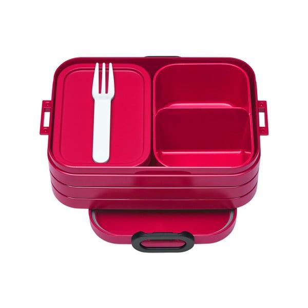 Červený box na oběd Rosti Mepal Ellipse Take a Break Bento, 18,5x12cm