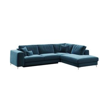 Canapea cu șezlong pe partea dreaptă Rothe albastru închis