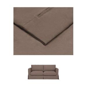 Hnědý povlak na rozkládací trojmístnou pohovku THE CLASSIC LIVING Jean