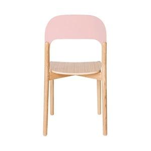 Scaun din lemn de stejar HARTÔ Paula, roz