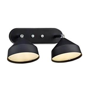 Dvojité nástěnné světlo Markslöjd Tratt, černé