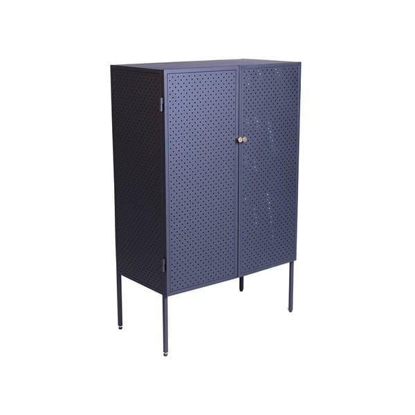 Černá kovová komoda Canett Brooks, výška 110 cm