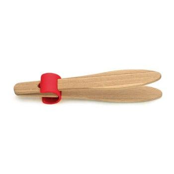 Cleşte din lemn de fag pentru pâine, cu detalii roşii Jean Dubost Handy, lungime 15 cm de la Jean Dubost