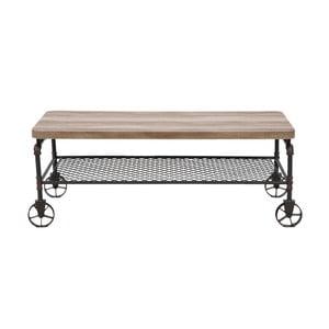 Pojízdný konfereční stolek z kovu a dřeva Mauro Ferretti Manhattan