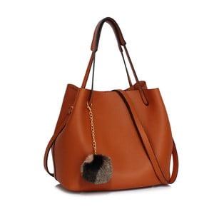 Hnědá kabelka L&S Bags Vesinet
