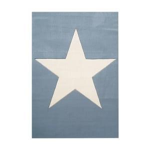 Modrý dětský vlněný koberec Happy Rugs Superstar, 120x180cm