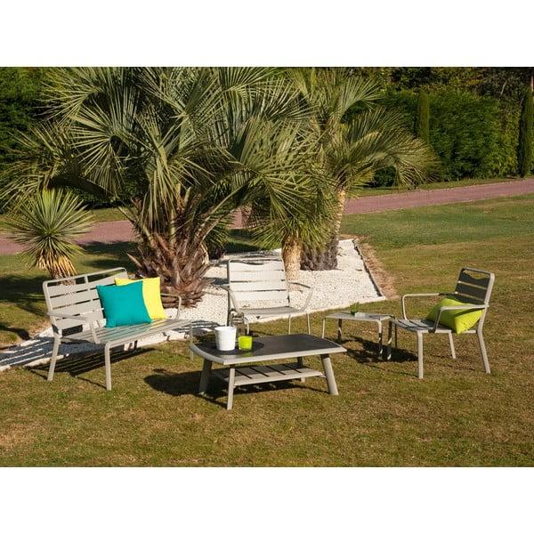 Zestaw stołu ogrodowego, krzeseł, ławki i podnóżka Ezeis Spring Lounge