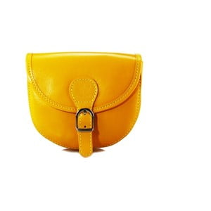 Žlutá kabelka z pravé kůže GIANRO' Trudo