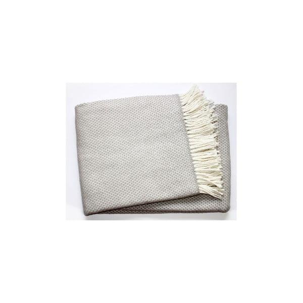 Jasnoszary pled z domieszką bawełny Euromant Zen, 140x180 cm