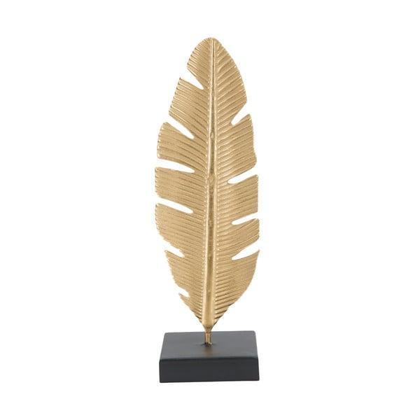 Feather aranyszínű dekorációs gyertyatartó, magasság 34 cm - Mauro Ferretti
