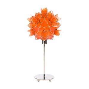 Perleťová stolní lampa Lotus, oranžová