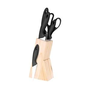 Set bloku se 4 noži a kuchyňskými nůžkami Bergner Dresde