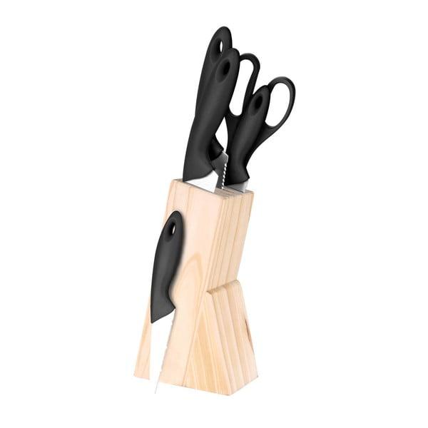 Dresde késtartó blokk 4 konyhai késsel és egy ollóval - Bergner