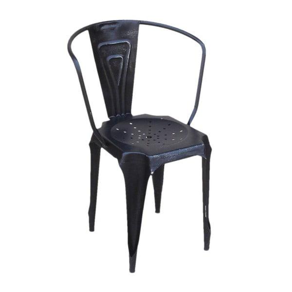 Kovová židle Fauteuil Noir
