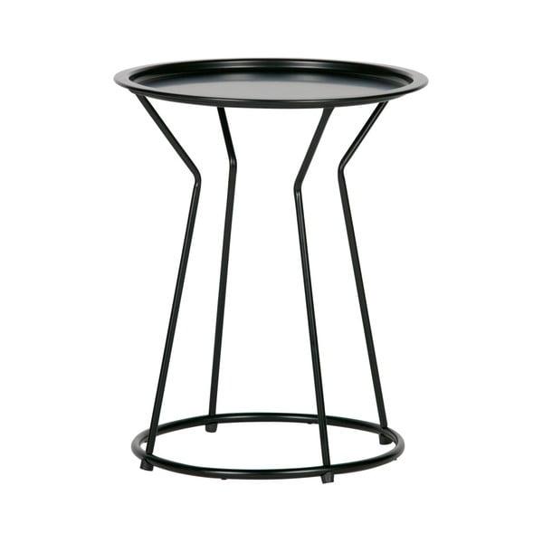 Masă de cafea metalică WOOOD Yana, ⌀41cm, negru