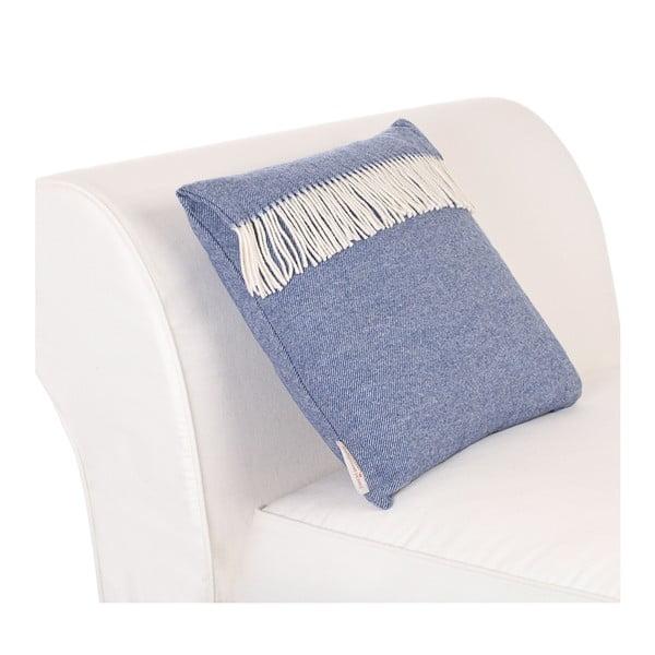 Vlněný polštář Liverpool 40x50 cm, modrý