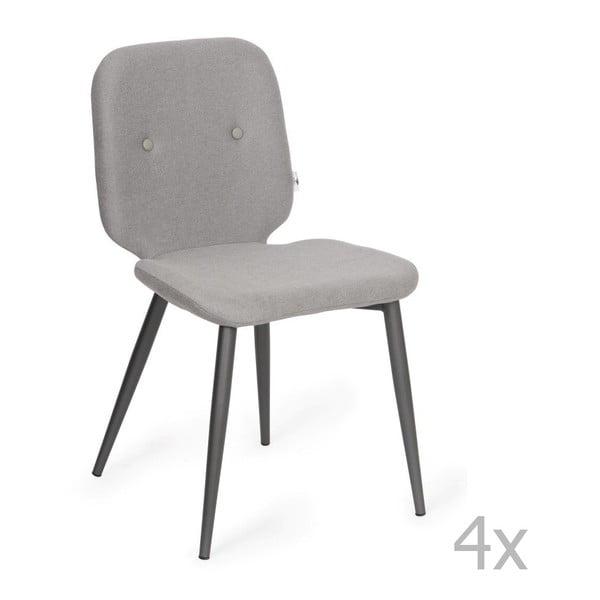 Sada 4 šedých jídelních židlí Design Twist Tabou