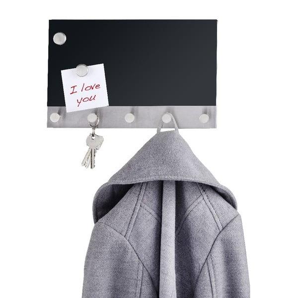 Magnetický věšák na kabáty s nástěnkou Wenko Black Long