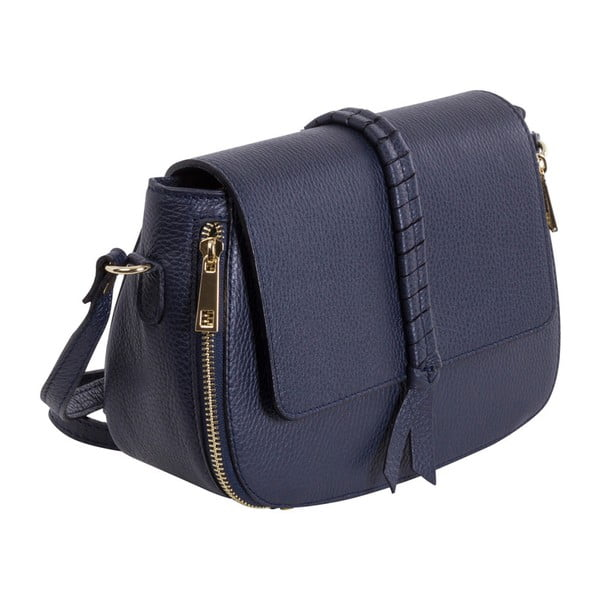 Tmavě modrá kabelka z pravé kůže Andrea Cardone Amedea
