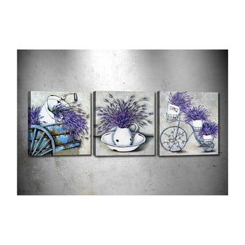 Set 3 tablouri Tablo Center Lavender imagine