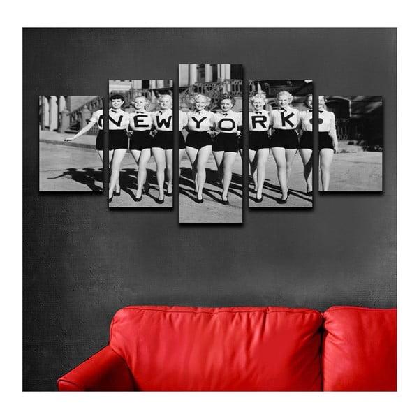 Vícedílný obraz Black&White NY Girls