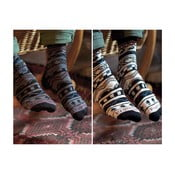 Sada bambusových ponožek PromiseClo, šedé a béžové S až M