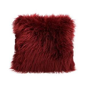 Vínově červený chlupatý polštář HF Living Fluffy, 45x45cm
