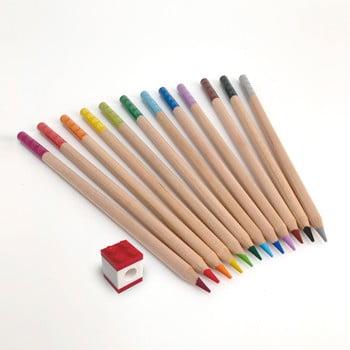 Set 12 creioane colorate cu clips în formă de lego LEGO® Stationery imagine