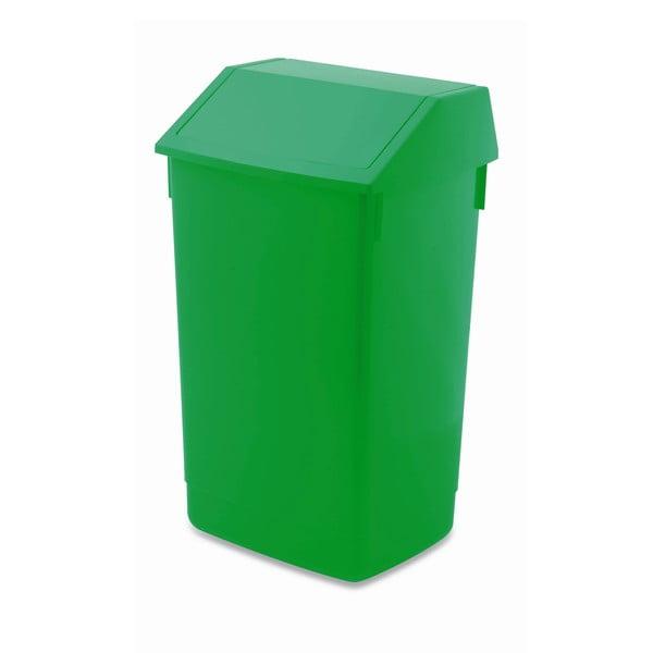 Coș de gunoi cu capac pe balamale Addis, 41 x 33,5 x 68 cm, verde