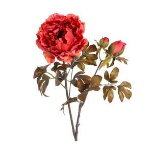 Umělá květina s červeným květem Ixia Peonia, výška97,5cm