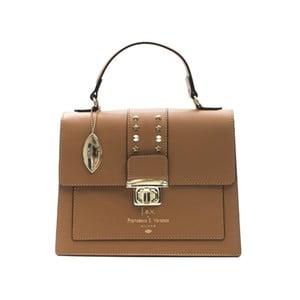Koňakově hnědá kožená kabelka f.e.v. by Francesca E. Versace Salima