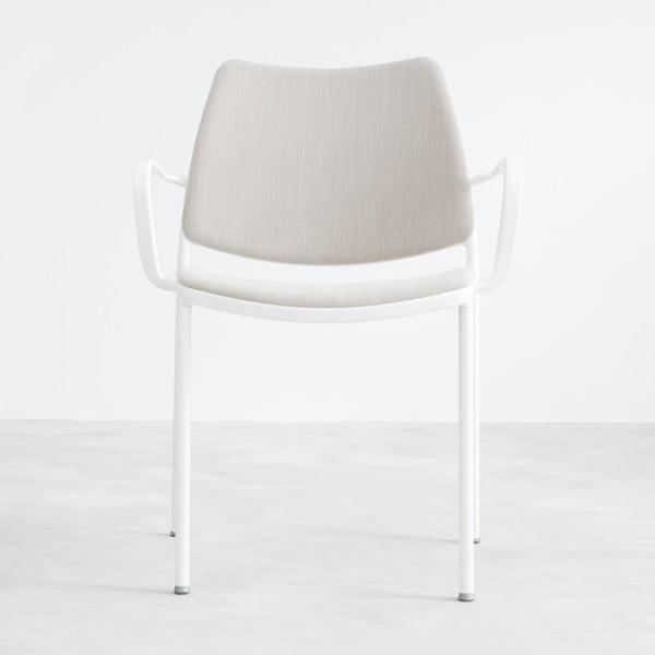 Šedá židle s bílými nohami Stua Gas