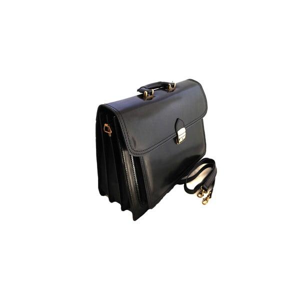 Kožená kabelka/kufřík Primitivo, černá