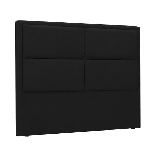 Černé čelo postele HARPER MAISON Gala, 140 x 120 cm