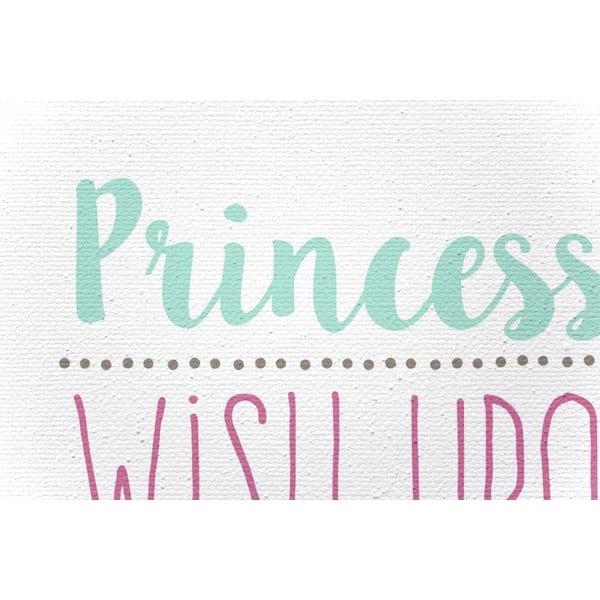 Obraz na plátně Princess Rules, 40x60 cm