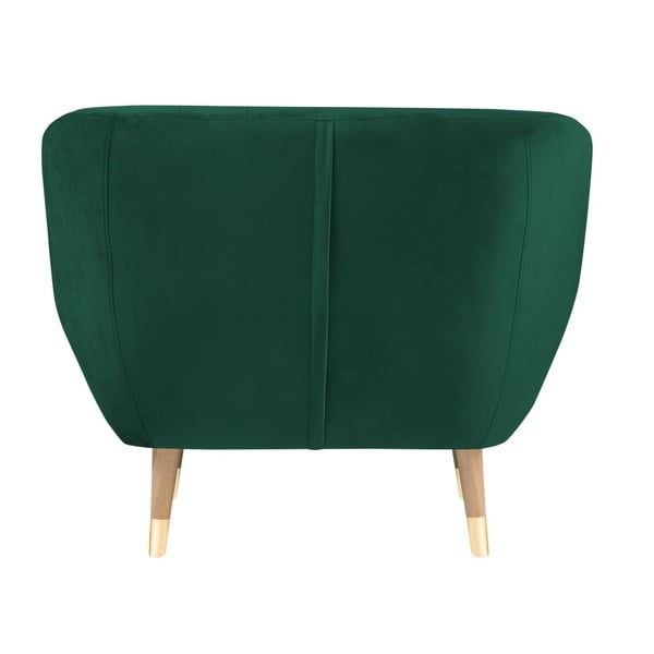 Tmavě zelené křeslo Mazzini Sofas Benito