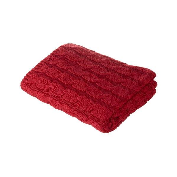 Červený pléd Parlane Uma, 150x125 cm