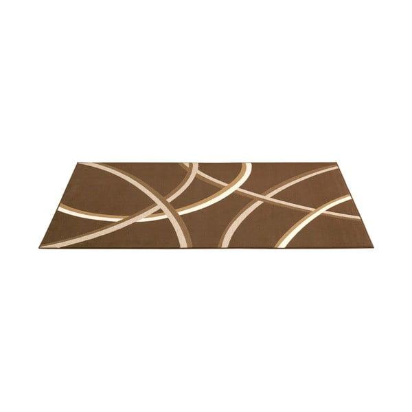 Hnědý koberec Hamla Lines, 120x170 cm
