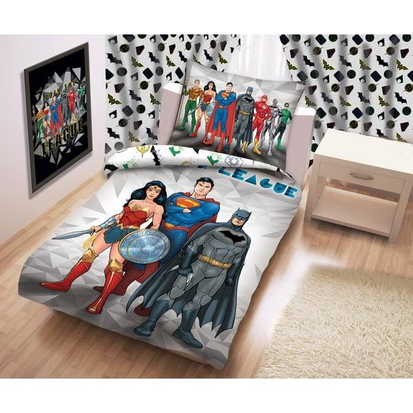 Bavlněné dětské povlečení Halantex Justice League, 140 x 200 cm