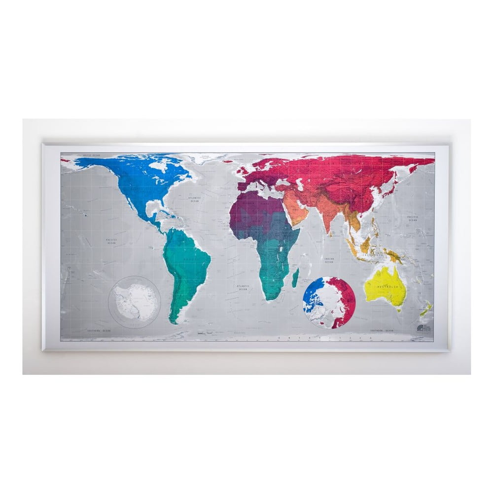 Magnetická mapa světa Huge Future Map, 196x100 cm