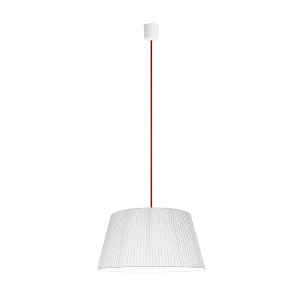 Světlo Kami L, bílá/červený kabel
