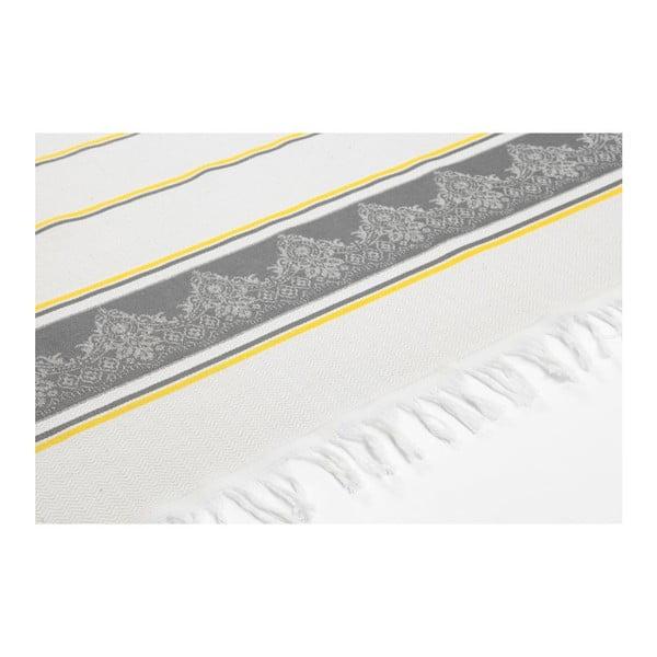 Prosop hammam  Deco Bianca Loincloth Grey Stripe, 80 x 170 cm, gri - bej