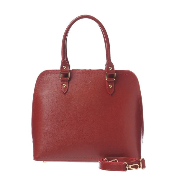 Kožená kabelka Fan Bag Red